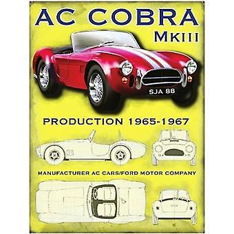 AC Cobra Mk Iii небольшой стали подписать 200 X 150 мм