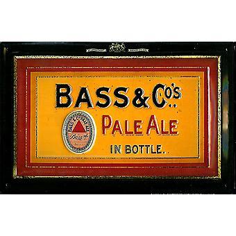 Baixo & Co Pale Ale gravado Metal assinar 300 X 200 Mm