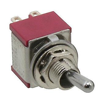 Cambiar interruptor de 1 polos enganche con posición de centro, 1 x, 1 x a tientas, on-off-(on)