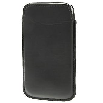 Caso di scivolo mobile borsa bauletto nero