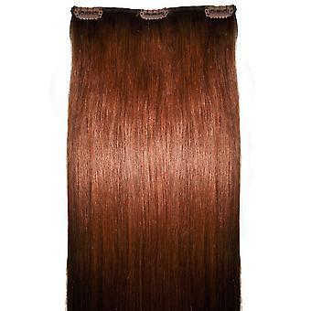 #33 Auburn - klipp i håret bit - #33 - Auburn