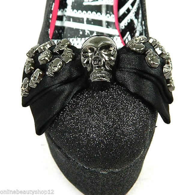 Abbey Dawn By Avril Lavigne Tough Crowd Skull Studded Platform Heel Shoes