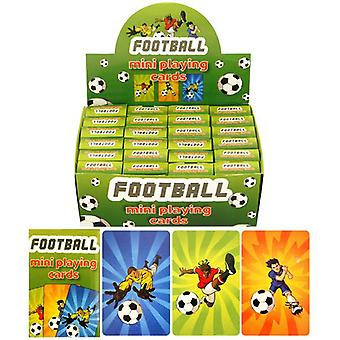 Box of 24 Packs of Football Mini Playing Cards