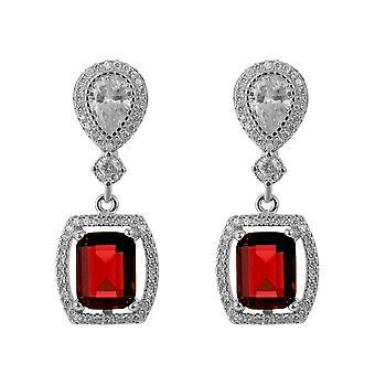 Orphelia Silber 925 Ohrringe mit Ruby und Zirkonium - ZO-7426/RU