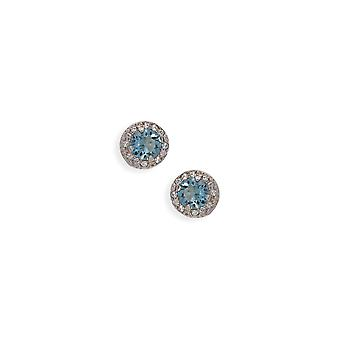 Blue earrings with crystals from Swarovski 509