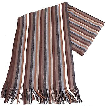 Bassin and Brown Young Striped Scarf - Brown/Grey/Beige