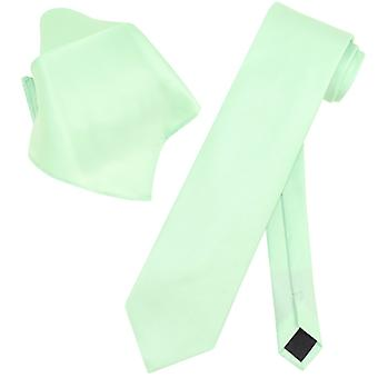 Vesuvio Napoli EXTRA LONG NeckTie & Handkerchief Mens Neck Tie Set