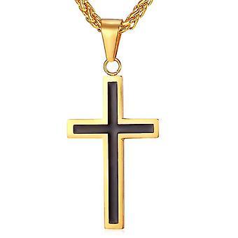 U7 Cross Necklace-Gold