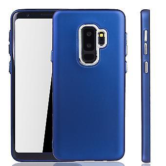 Samsung Galaxy S9 plus - matkapuhelin tapauksessa Samsung Galaxy S9 plus - liikkuva tapaus tumman sininen
