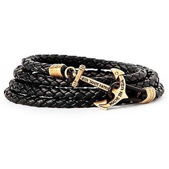 Kiel James Patrick il cuoio ancorare kraken 5485 bracciale nero