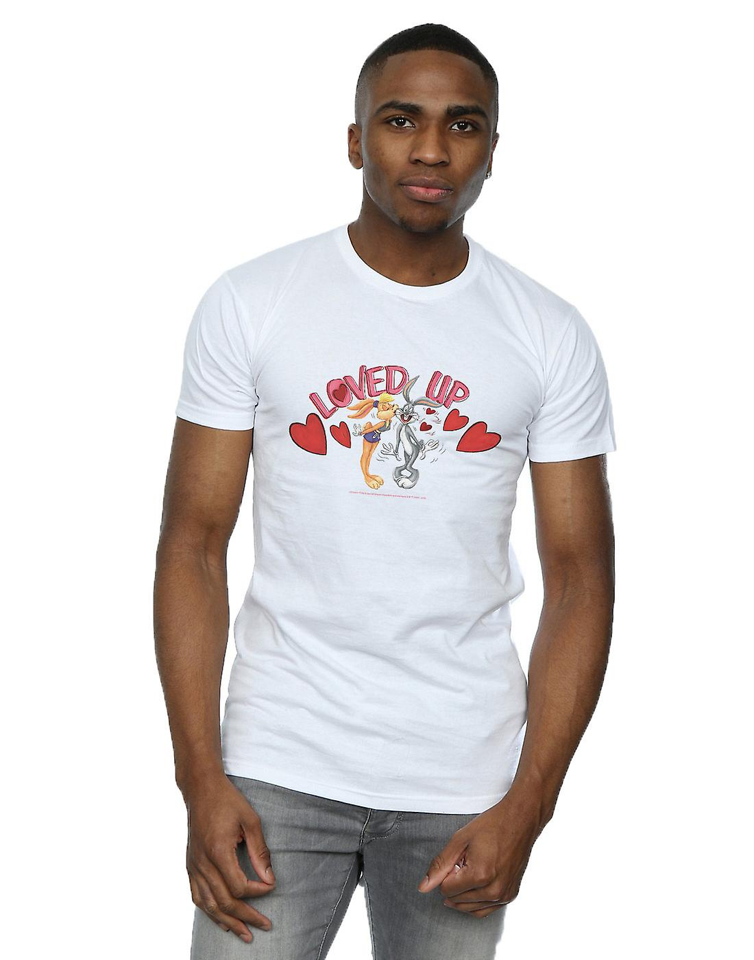 Looney Tunes Men's Bugs Bunny And Lola Valentine's Day Loved Up T-Shirt