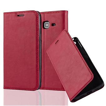 Cadorabo veske til Samsung Galaxy J3/J3 DUOS 2016 tilfelle deksel-telefon veske med magnetisk lukking, stativ funksjon og kort veske kupé – tilfelle deksel etui tilfelle bok folding stil