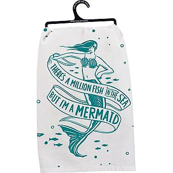 Theres A Million Fish in the Sea But I'm a Mermaid Kitchen Dish Towel Cotton