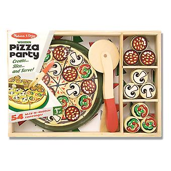 Melissa & Doug Pizzaparty Holz Spiel Küche mit 54 Toppings