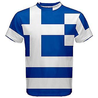 Grekland grekisk flagga Sublimerad Sports Jersey-barn