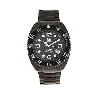 Reign Quentin Automatic Pro-Diver Bracelet Watch w/Date - Black