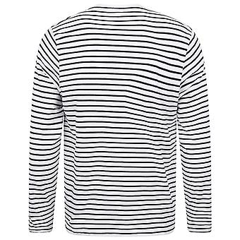 Skinni Fit Unisex Long Sleeve Striped T-Shirt