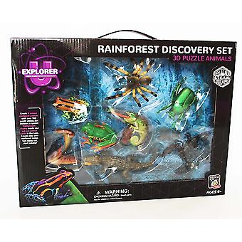 Tedco Rainforest Discovery Set, 3D pussel djur