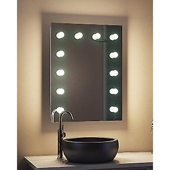 Diamond X Wallmount Hollywood Audio Mirror, Dimmable LED k90WWaudbath