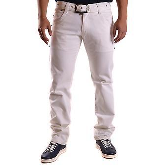 Bikkembergs Ezbc101044 Men's White Cotton Jeans