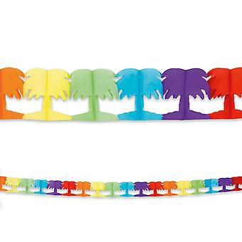 4m Long Paper Garland Bunting Palm Trees Childrens Party Decoratiom