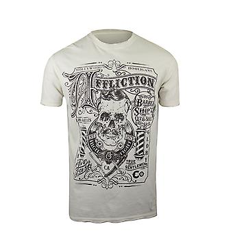Affliction Mens The Barber Reversible T-Shirt - Vintage White/Black