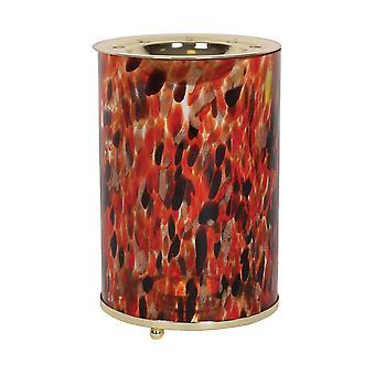 Aroma konstglas vax smälta brännare, röd