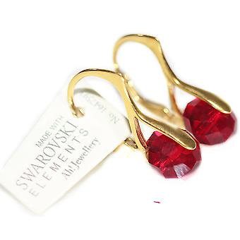 Vrouwen stralende Hand klaar goud Over zilver Briolette ronde oorbellen