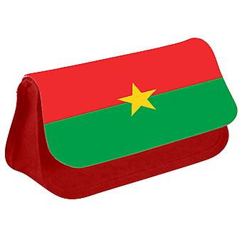 Burkina Faso Flag Printed Design Pencil Case for Stationary/Cosmetic - 0027 (Red) by i-Tronixs