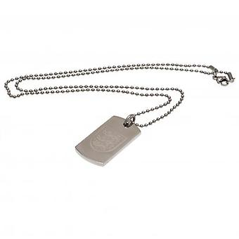 England F.A. Engraved Pendant & Chain DT