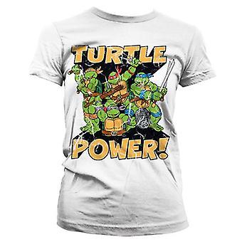 Women's TMNT Turtle Power! White T-Shirt