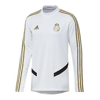 2019-2020 Real Madrid Adidas Training Top (White) - Kids