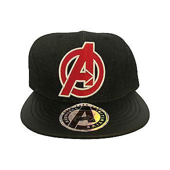 Avengers Baseball Cap Avenger Logo new Official Marvel Comics Black Snapback
