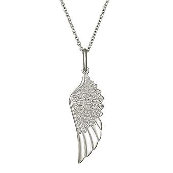 Eternal Collection Angels Wing Stainless Steel Pendant