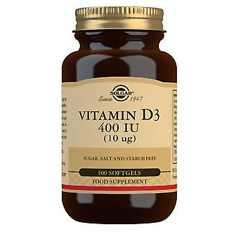 سولغار فيتامين D3 10ug (400iu) Softgels 100 (3320)