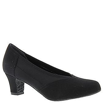 Ros Hommerson Women's Helen Dress Pumps, Black Leather, Foam, Fabric, 8.5 SS