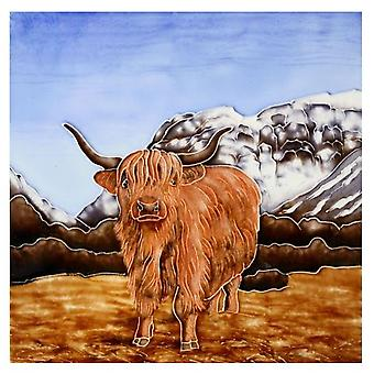Highland Cow Tile Trivet by Milford Collection