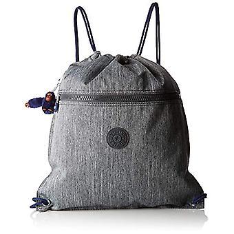 Kipling SUPERTABOO Sac de sport pour enfants - 45 cm - 15 litres - Gris (Ash Denim Bl)