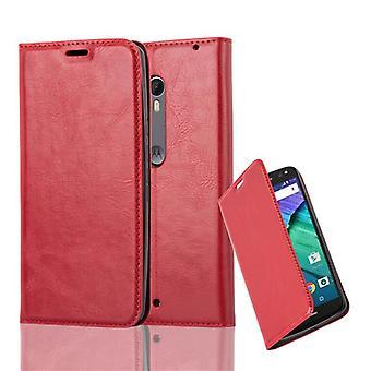 Kotelo Motorola MOTO X STYLE Taitettava puhelinkotelo - Kansi - jalustatoiminto ja korttilokero