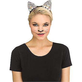 Black Jeweled Cat Ear