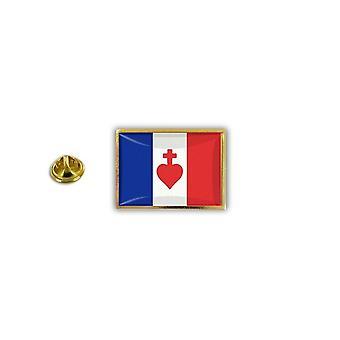 Pine PineS PIN rinta nappi PIN-apos; s Metal epoksi Pince Papillon Flag Ranska Rite Heart