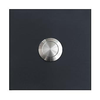 MOCAVI RING 115 stainless steel design ring anthracite grey RAL 7016 square satin (7.5 x 7.5 x 2)