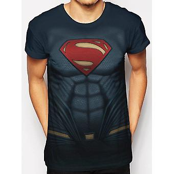 Superman-Sublimated Costume T-Shirt