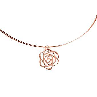 GEMSHINE Halskette ART DECO ROSE 925 Silber, vergoldet oder rose