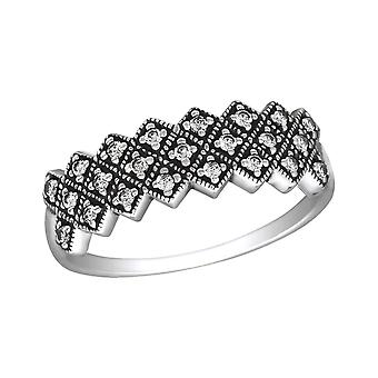 Ornate - 925 Sterling Silver Cubic Zirconia Rings - W30146x