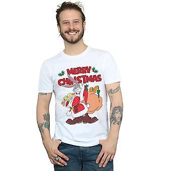 Looney Tunes miehet ' s Santa Bugs Bunny T-paita