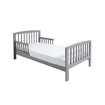 Klassiek houten peuter bed grijs plus Deluxe Foam matras