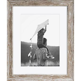 Brown Wood Photo Frame Wall Mounted Large Poster Picture Falmouth Modern