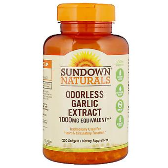 Sundown naturals odorless garlic, 1000 mg, softgels, 250 ea