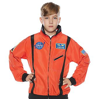 Astronaut NASA Spaceman Space Orange Uniform Book Week Boys Costume Jacket